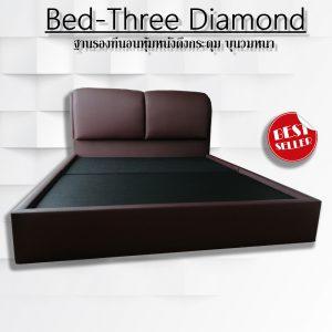 เตียงหัวบุนวม เตียงหุ้มหนัง ฐานรองที่นอน