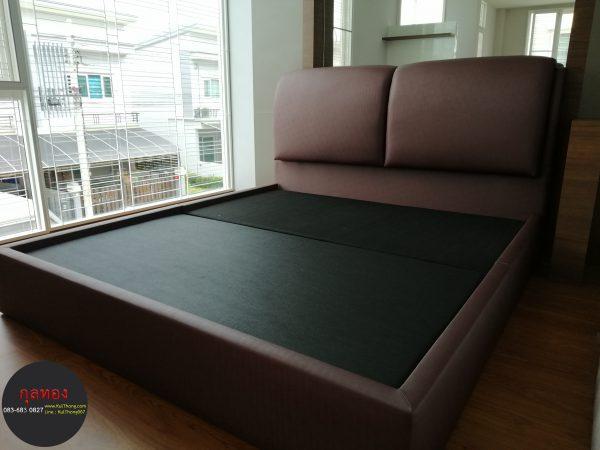 เตียงหัวบุนวม ฐานรองที่นอน เตียงหุ้มหนัง