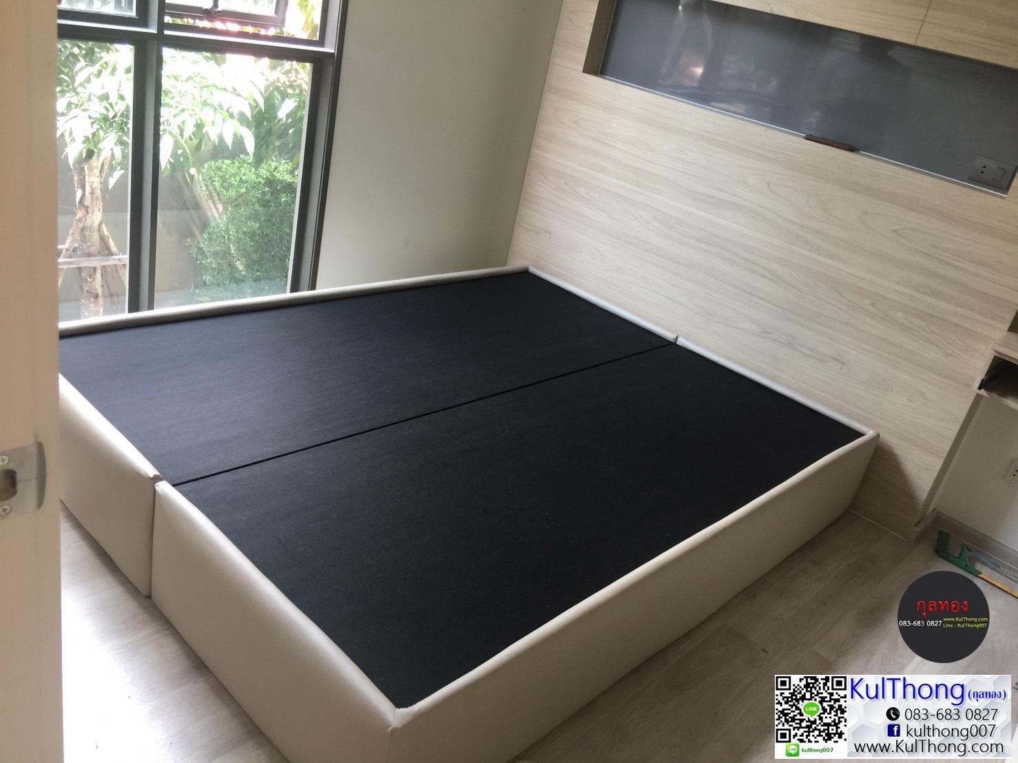 เตียงหุ้มหนัง Bed-One ฐานรองที่นอน เตียงบล๊อก