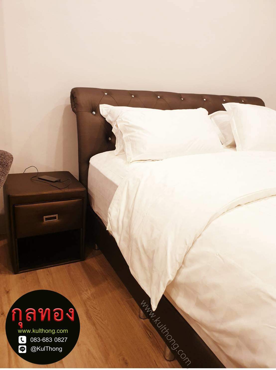 ตู้หัวเตียงมีลิ้นชัก สตูลหัวเตียงมีลิ้นชัก สตูลเก็บของ ตู้ข้างเตียงหุ้มหนัง