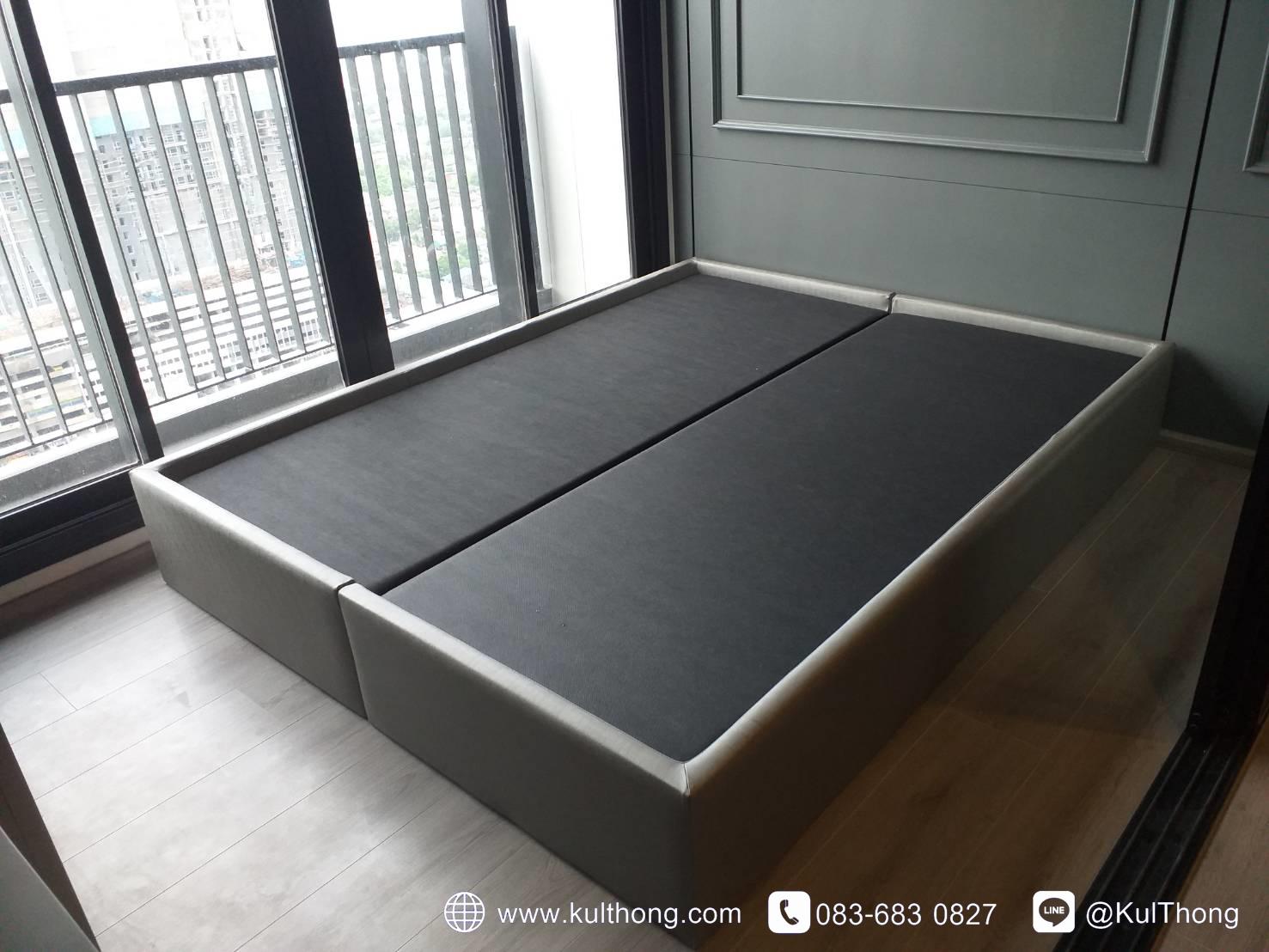 ฐานเตียงหุ้มหนัง ฐานรองที่นอน เตียงสั่งทำ