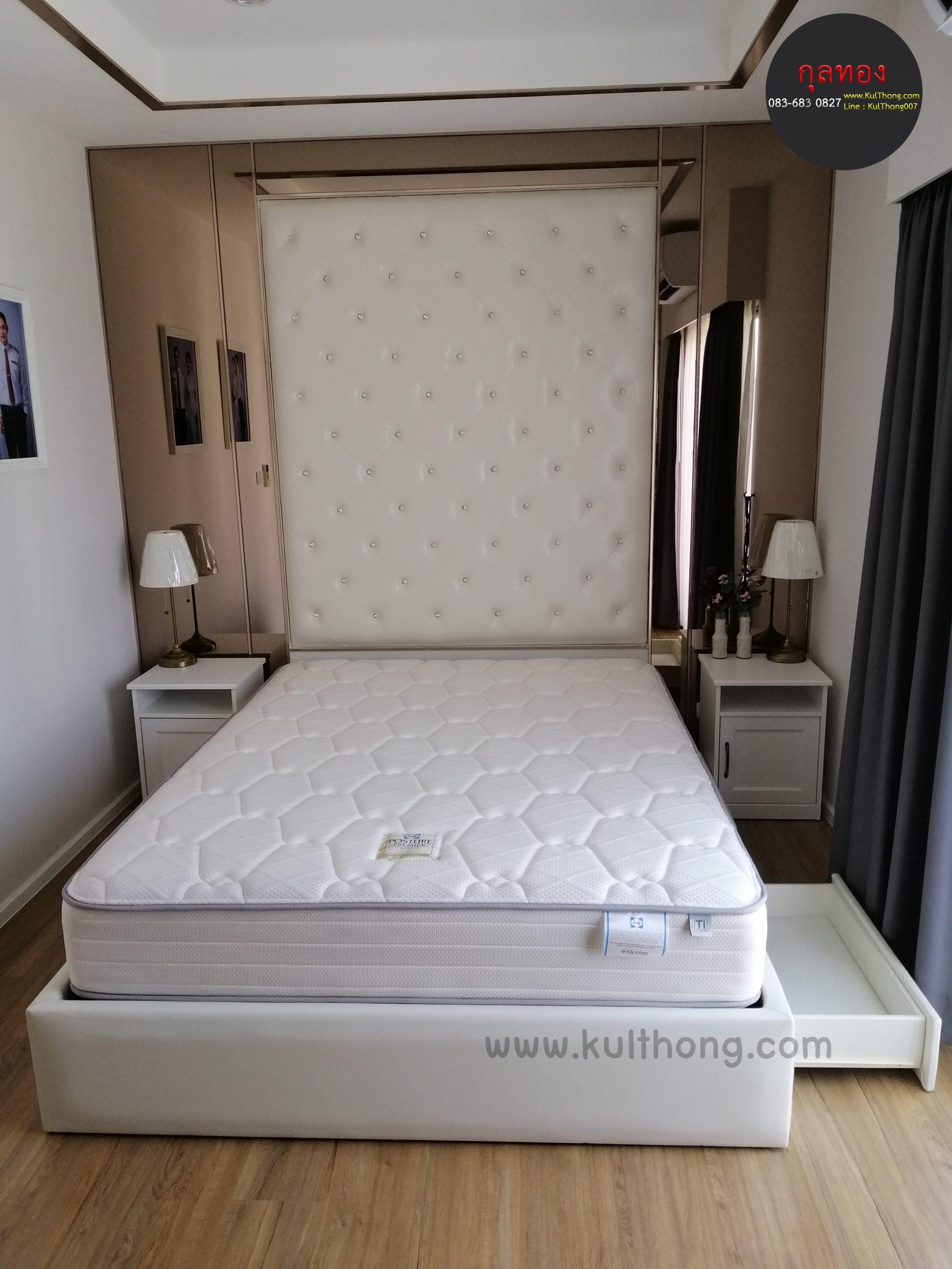 หัวบุเตียงนอน บุผนังหัวเตียง หัวเตียงแขวนผนัง