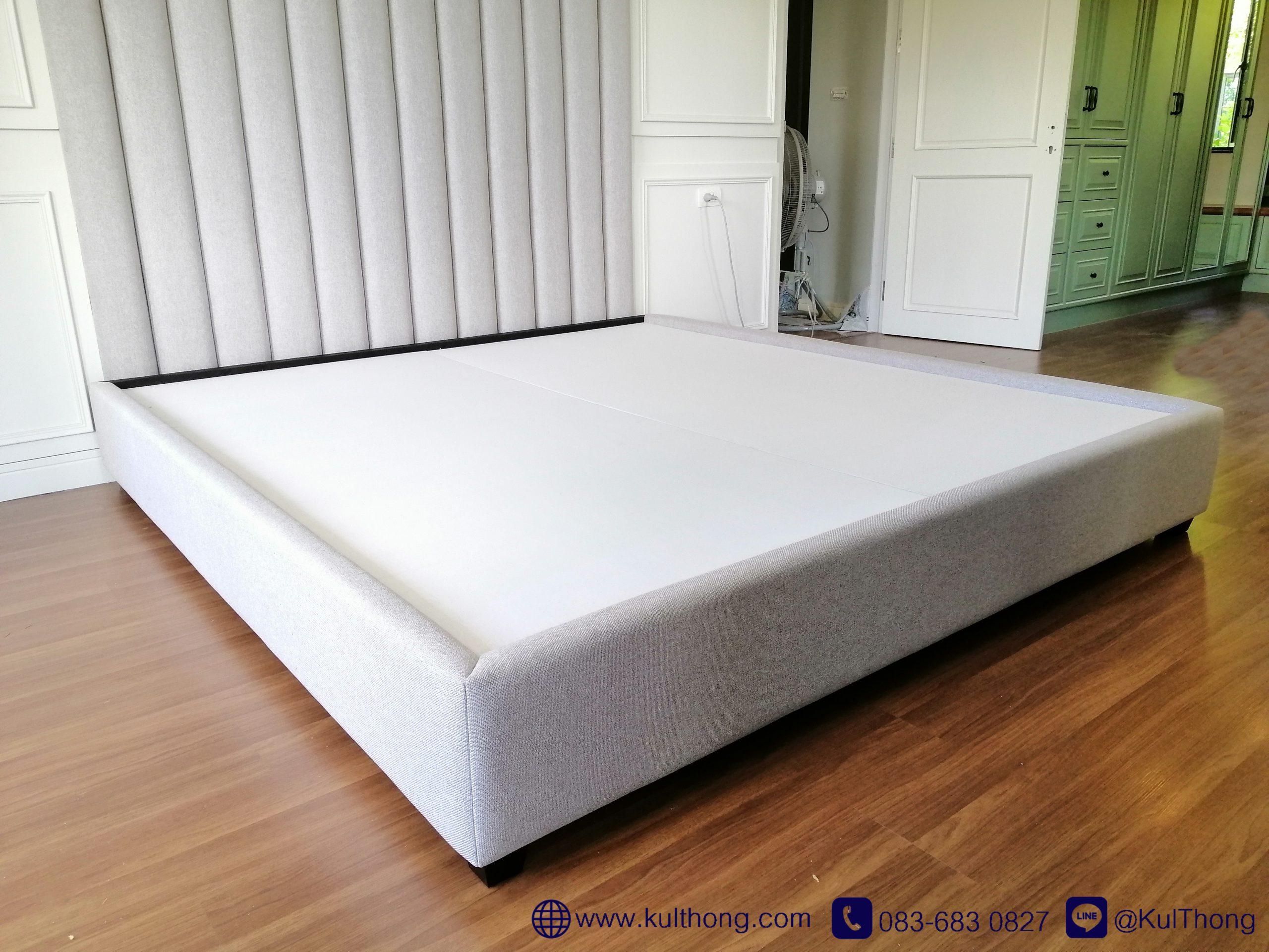 เตียงนอน ฐานรองที่นอน เตียงหุ้มผ้า